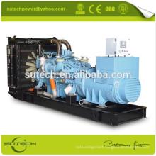 1000KW MTU 12V4000G21R generator with Leroy somer alternator