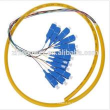 12-жильный одномодовый коннектор, волоконно-оптический кабель SC / UPC, оптический коннектор из оптического волокна 12 с 0,9 мм 2,0 мм 3,0 мм