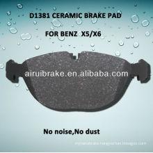 D1381 ceramic brake pad for BENZ X5/X6