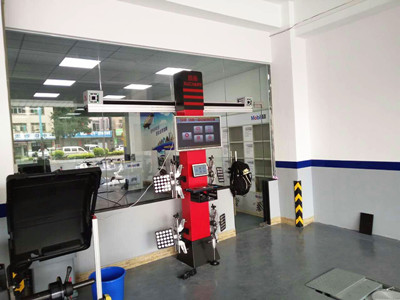 3D Wheel Alignment Process