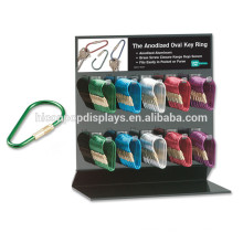 Metal Or Acrylic Countertop Key Ring Display Stand, Advertising Key Chain Key Holder Display Stand