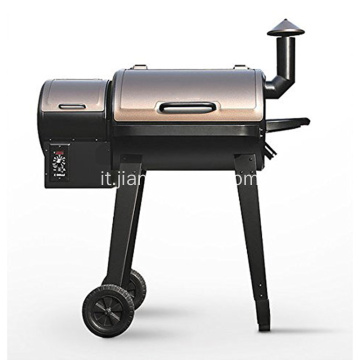Barbecue a pellet color oro