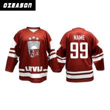 Kundenspezifisches Sublimations-Hockey-Jersey für Eishockey-Sport Jersey
