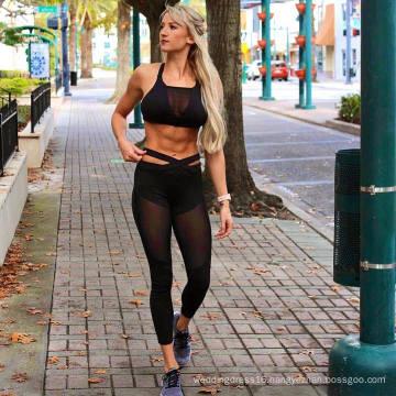 Hot Sale Black Sport Leisure Clothes Leggings Pants (3035)