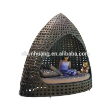 new arrival PE rattan outdoor daybed garden wicker lounge chaise