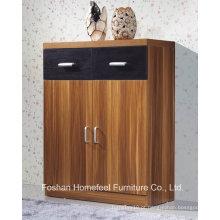 Gabinete de exibição de madeira de 2 portas + 2 caixas durables (HHSR04T)