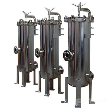 Stainless steel security filter for water treatment