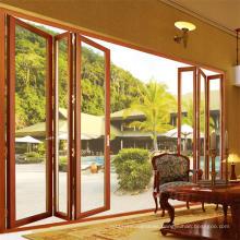 Hot Sale Sound Insulation Aluminum Garden Accordion Patio Doors (FT-D75)