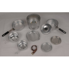 Outdoor Aluminum Cookware Set with Stove