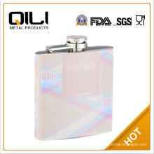 Leather Covered Stainless Steel Hip Whisky Flask food flask