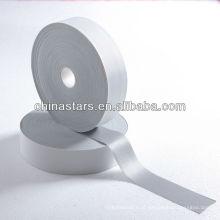 Tecido de alta visibilidade prata elástica reflexiva