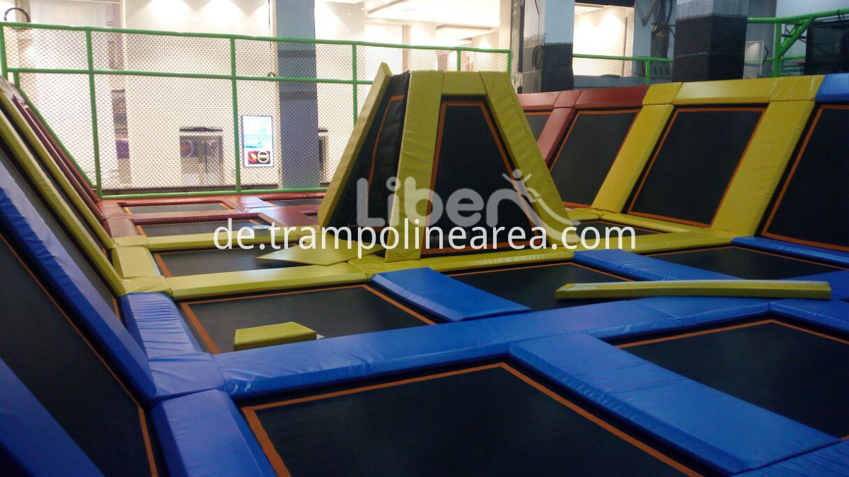 large indoor trampoline park