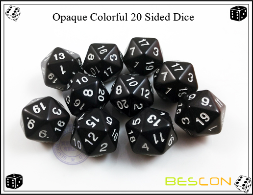 Opaque Colorful 20 Sided Dice-6