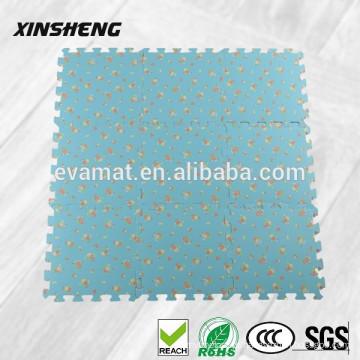 Tapetes de borracha de alta qualidade decorativos, EVA espuma tatami antiderrapante tapete de borracha