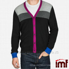 Мода кнопки стиль мужская кашемира кардиган свитер