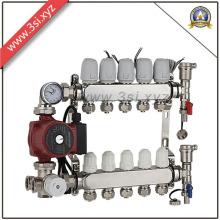 Separador de distribuição de água anti-corrosão para sistema de aquecimento radiante (YZF-L148)