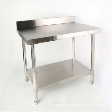 Stainless Steel Kitchen Work Bench with Backsplash