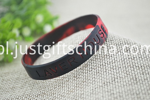 Custom Swirled Debossed Youth Silicone Bracelets - 180mmx12mmx2mm