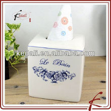 Caja de papel cuadrado de papel con calcomanía
