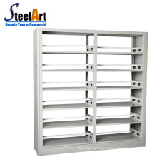 Knock down design double sided MDF metal bookstore bookshelves