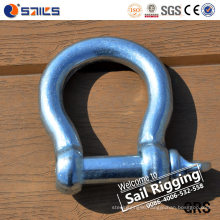 Forged Zinc-Plated European Type Large Bow Shackle
