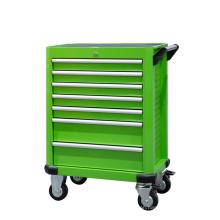 7 Drawer Green Rolling Tool Storage