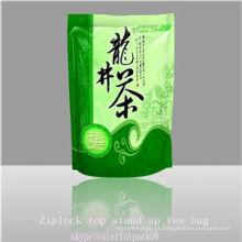 Sacos de chá plásticos da impressão matte / saco lateral da folha de alumínio do reforço