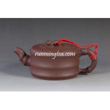 Bian Zhu Hu Bamboo Shape Yixing Purple Clay Teapot