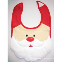 Promotional Santa Baby Bib Father Christmad Drooler Bib Apron Christmas Baby Bibs
