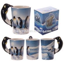 Lovely penguin ceramic 3D dolomite mug