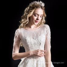 Alibaba high quality a-line wedding dress bridal gown HA749B