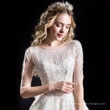 Alibaba alta qualidade a linha de vestido de noiva vestido de noiva HA749B