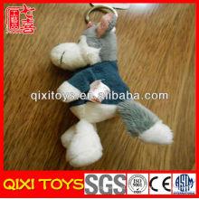 Nuevo diseño de juguetes de llavero de lobo de peluche