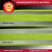 High durability green lycra reflective ribbon