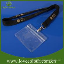 Transparente PVC impermeable titular de la tarjeta de identificación