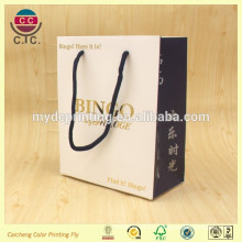 Gold foil Shopping bag with cotton string for fashion