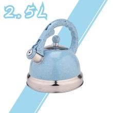 Чайник со свистком из нержавеющей стали Sky Blue Mirror