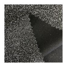 Most popular party dress black knit polyester spandex metallic lurex fabric