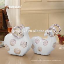 2017 New Design New Fashion Home Ornament White Resin Duck Figurines Home Decor