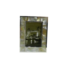 Eco Friendly Golden Mother of Pearl Photo Frame