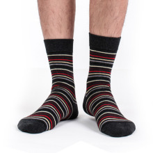 Chaussettes à rayures en coton pour hommes (MA035)