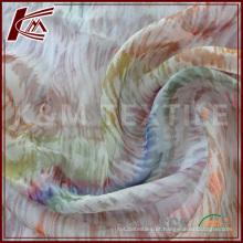 China fornecedor tecido de seda do Chiffon com impressão personalizada