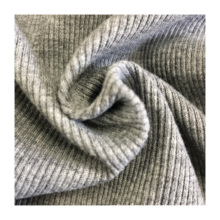 high quality  heavy weight soft 100%polyester 2*2 ribbed knit fabric for women dresses