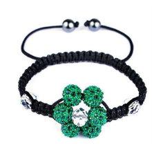 2013 Braguelles du chapelet catholique Mode à la main Couleur mélangée Boule de cristal Forme de la fleur Shamballa Bracelets Cheap BR01