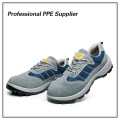 Genuine Leather Breathable Summer Light Safety Shoes