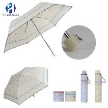 3 Fold Manual Open Lady Fashion Umbrella with Lace Edge
