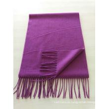 mezcla 50% cachemira 50% lana media llanura bufanda púrpura