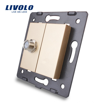 Livolo Electric Wall Socket Accessory The Base of Satellite TV Outlet VL-C7-1ST-13