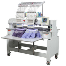 Double Heads Computerized Embroidery Machine price in china 9/12 Needles for cap,flat ,chenile embroidery--OEM902C/1202C