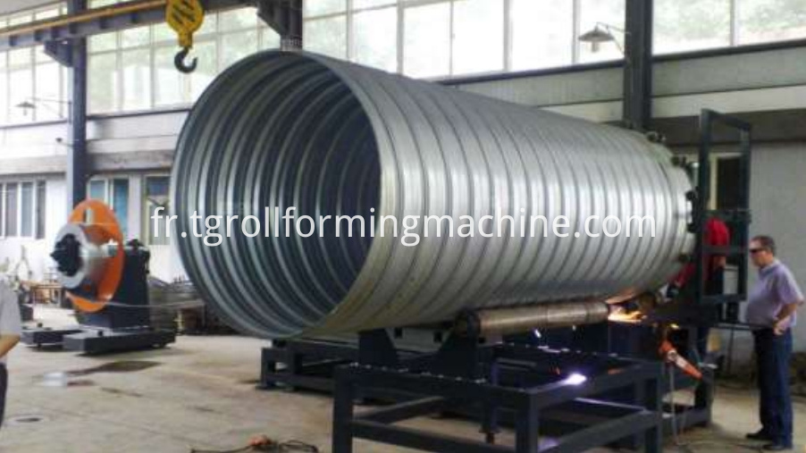Corrugated Metal Culvert Pipe Forming Machine